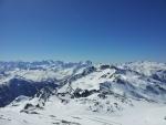 Krásně zasněžené vrcholy Savojských Alp