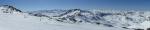 Panorama vyhlídky pod Cime Caron