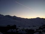Poslední západ slunce ve Val Thorens