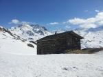 Půvabná boudička v polovině cesty mezi Val Thorens a Les Menuires