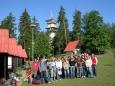 Společná fotka v kempu Pod věží u Olomouce (2007, Hana Šimková)