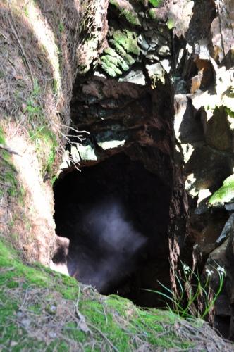Jako by vchod ke zlatému pokladu, ukrytému hluboko v podzemí hlídali duchové.