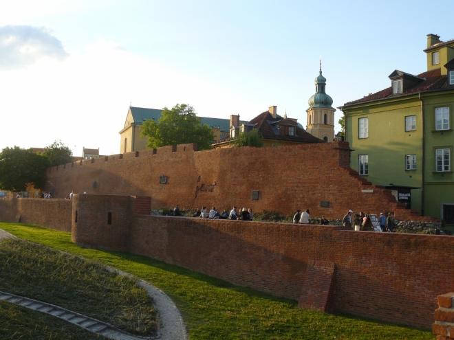 Cihlové opevnění Starego Mieasta