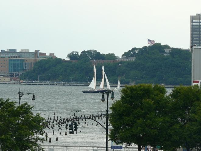 Jachta na řece Hudson