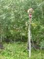 Křížení tratí v lesíku