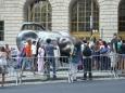 Na začátku ulice Broadway je velký býk, tzv. Charging bull. Kvůli četným turistům ho  šlo jen těžko vyfotit lépe.