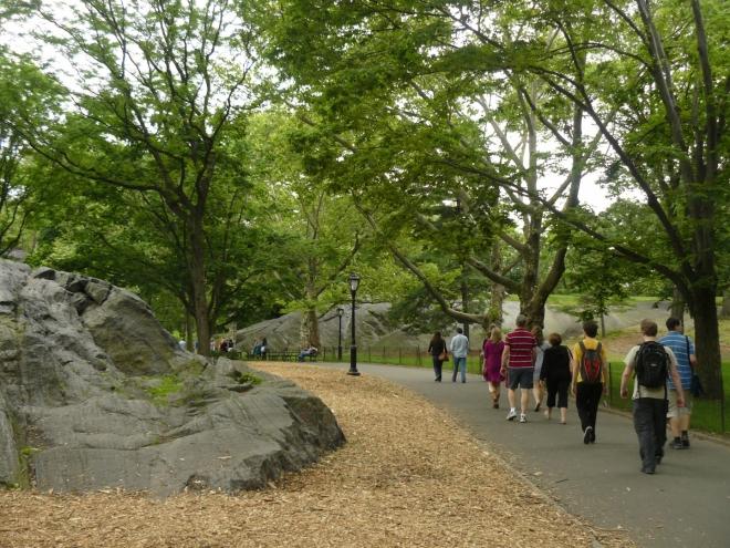 Skalky v Central parku