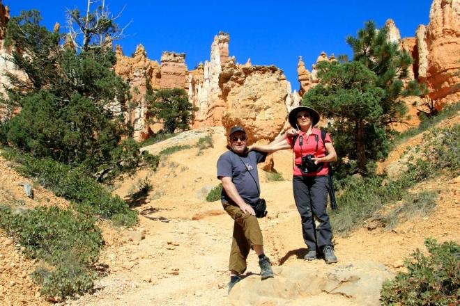 Utah, Bryce Canyon - už nejsme zcela svěží, ale nadšení, foto Vláďa Hošek