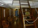 V lodi Cruiser Olympia. Prohlížíme důstojnické kajuty.