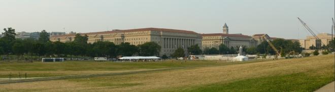 Panorama okolí památníku Washingtona
