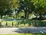 Parku u Kapitolu je poničen večerní smrští.