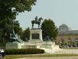 Socha Granta, vojevůdce v americké občanské válce a poté i prezidenta