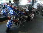 Americký motocykl se sidecarou
