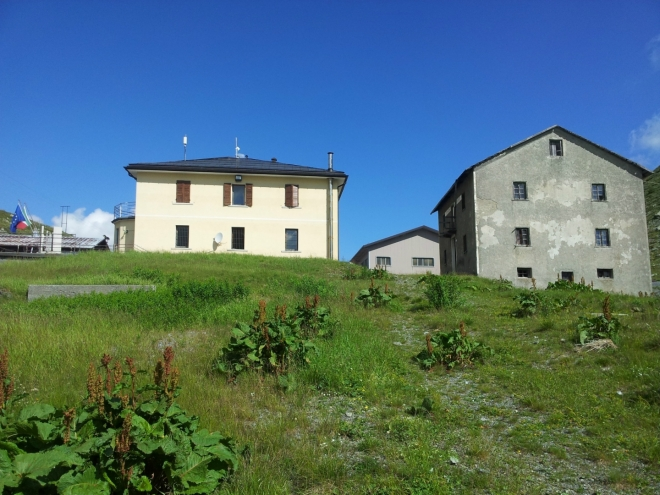 Budovy v průsmyku Passo di Foscagno