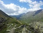 Hory tyčící se nad průsmykem Passo di Foscagno