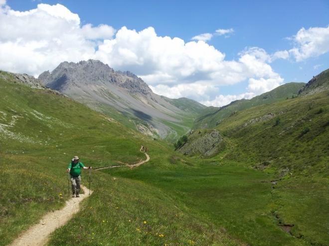 Cesta od chaty Alpe Trela