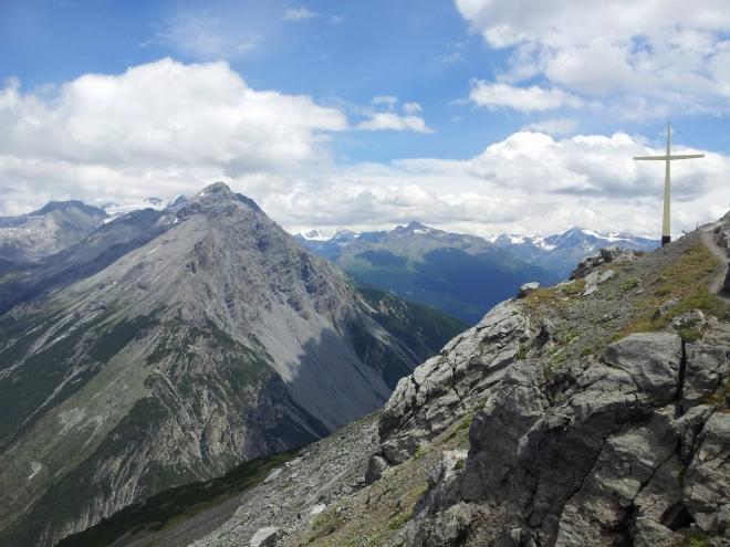Poslední pohled na vrchol Monte delle Scale