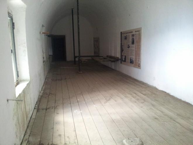 Místnost nacházející se na kraji podzemní pevnosti z 1. světové války