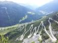 Typická alpská silnička