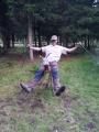 Moje póza na zvířecí soše