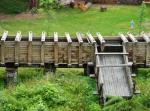 Opravený vodní náhon k elektrárně Vydra.