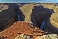 Utah, kaňon Gooseneck - meandr řeky San Juan River