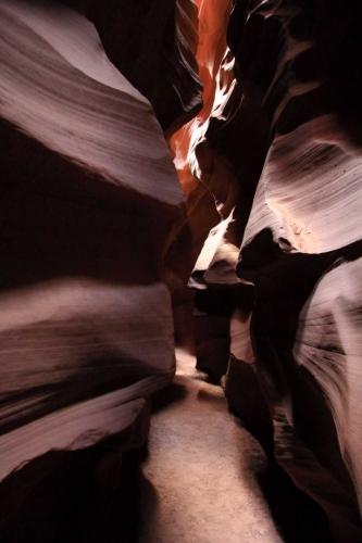 Arizona, Antelope Canyon - kraťoučká chvíle bez lidí