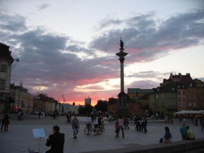 Plac Zamkowy a Zikmundův sloup