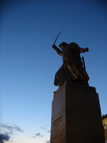 Socha Jana Kilińského, jednoho z vůdců Kościuszkova povstání