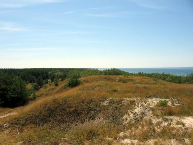 """Hned za ní už je Baltské moře. Tato """"přední"""" duna se táhne podél celého západního pobřeží kosy."""