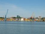 Pohled na Klaipėdu z Kurské kosy