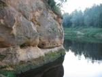 Orlí útesy (Ērgļu klintis) při řece Gauja, Lotyšsko