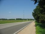 Lotyšská silnice A3 na kraji Valmiery, směr Valka