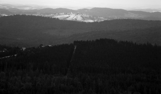 Pohled do dáli Bavorska.