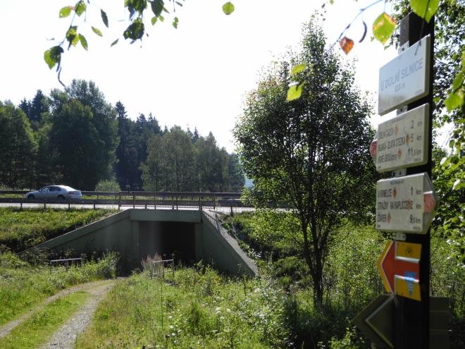 Podchod pod cestou na Phillipsreut.