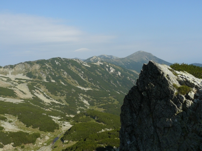 Pohled na nejsevernější část Pirinu
