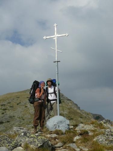 Vrcholovka na Razlozkim Suchodolu, prvním dobytém vrcholu