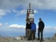 Společná vrcholovka na Vichrenu se zbytky vrcholového kříže