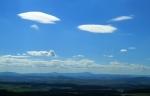 Panorama Šumavy s Velkým Plešným a Chlumem je dnes vidět docela dobře i v protisvětle.