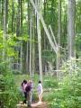Jen se trochu vzdálíme, již za námi s mohutným skřípěním zapadá lesní závora.