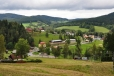 Pohled zpět k Horní Vltavici.