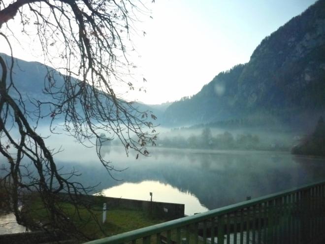 Východ slunce nad Hallstätter See