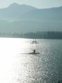 Adventní svíce na jezeře