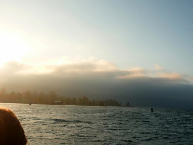 Mlha přicházející z hor