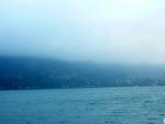 Mlhavý opar na městečko St. Gilgen