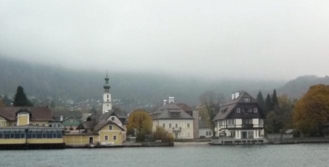 Kostel a rodný domek Mozartovy matky v St. Gilgenu