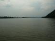 Dunaj za deště a bouřky, ale voda na koupání byla příjemná, jen jako vždy velmi silný proud a tak jsem si vzpomněl na JIrku Schelingera