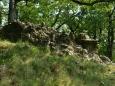 skály (slepence z valounů) na jednom z vrcholů - Miklos, což je česky Mikuláš