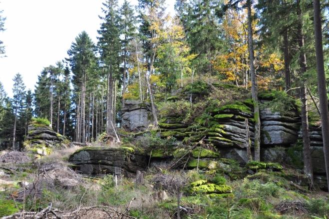 Vrchol Vysoké tvoří skalní blok.