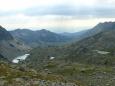 Pod jezerem Tevnoto, které by bylo kousek vpravo, tvoří údolí terasovité stupně a na každém je jezero :-)